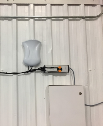 Sentroller mounted on the wall to ensure the UV sterilizer bulb is OK.