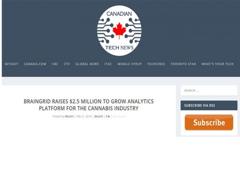 Braingrid raises $2.5 million to grow analytics platform for the Cannabis Industry