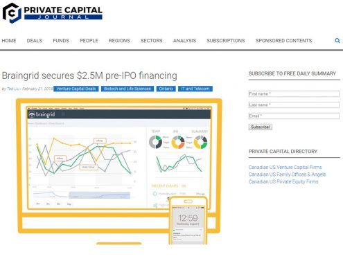 braingrid media screenshot private capital journal